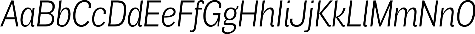 Air Condensed Light Italic