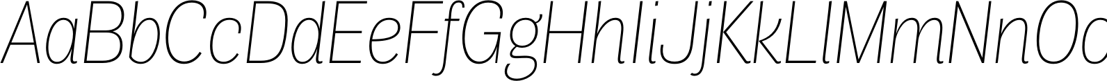 Air Condensed Thin Italic