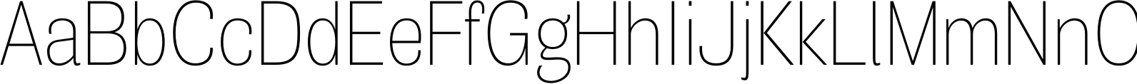 Air Condensed Thin Font