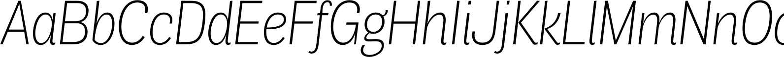 Air Condensed Ultra Light Italic Font