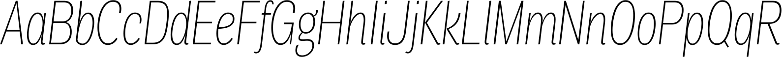 Air Compressed Thin Italic Font