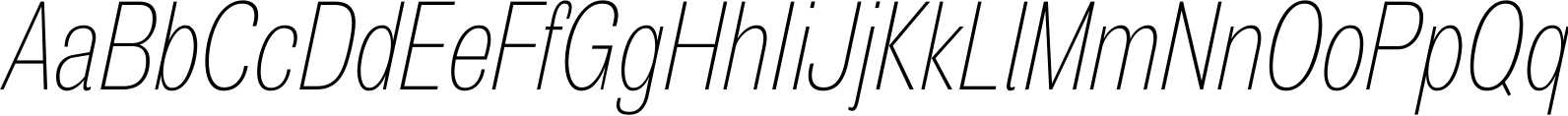 Air Compressed Thin Oblique Font
