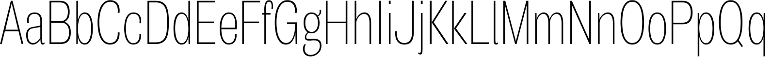 Air Compressed Thin Font