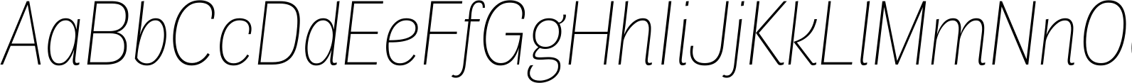Air Condensed Thin Italic Font