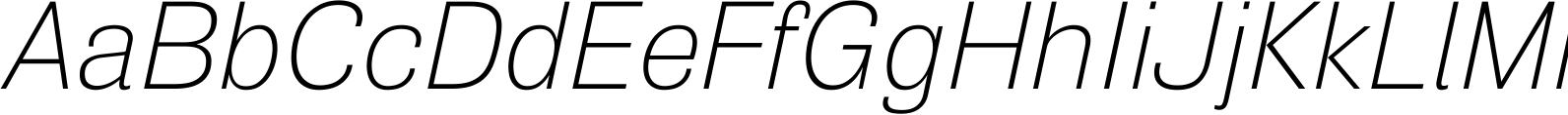 Air Ultra Light Oblique Font