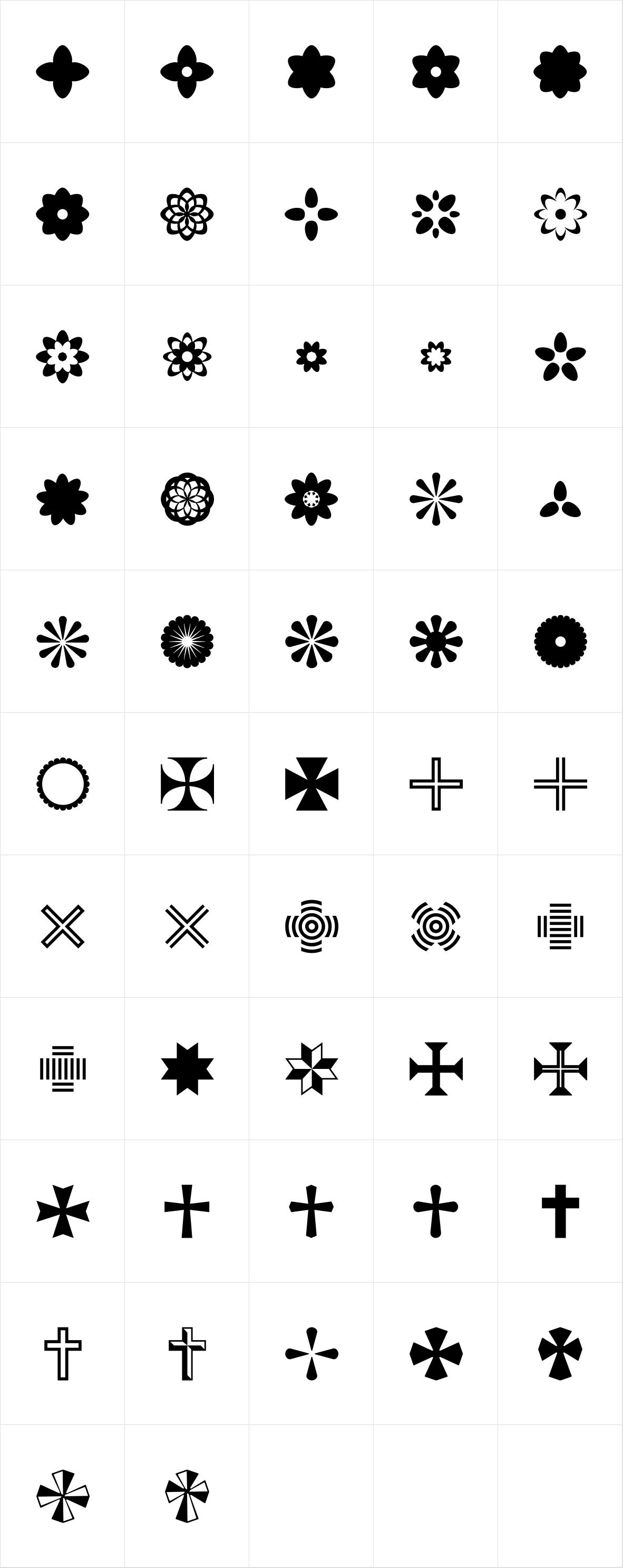 Acta Symbols Flowers