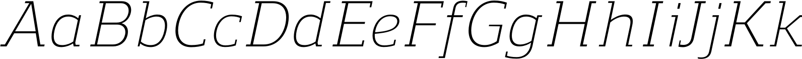 Regan Slab Light Italic Font