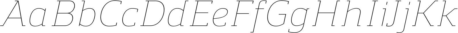 Regan Slab UltraLight Italic Font