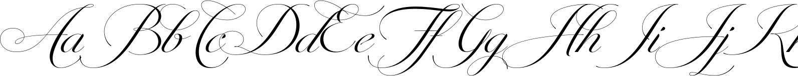 Penna Connected Swashes Font