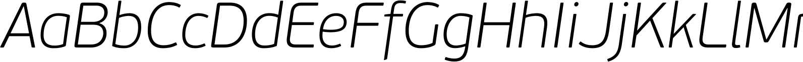 PFBeauSansPro ThinItalic