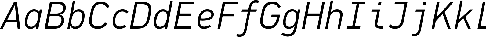 PFDinMono LightItalic