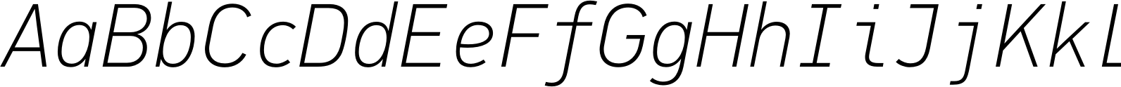 PFDinMono ThinItalic