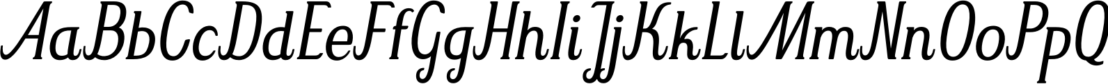 Mrs Green Light Condensed Italic