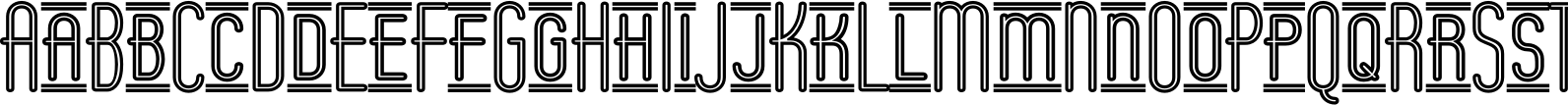 Operator Nine BTN Inline Lined Font