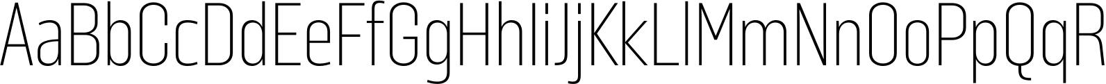 Solido Condensed UltraLight Font