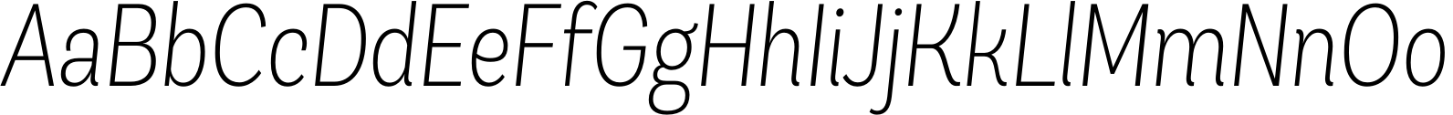 Andes Condensed ExtraLight Italic