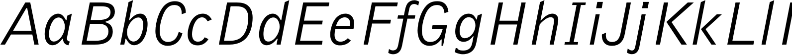 Bell Gothic Italic Font
