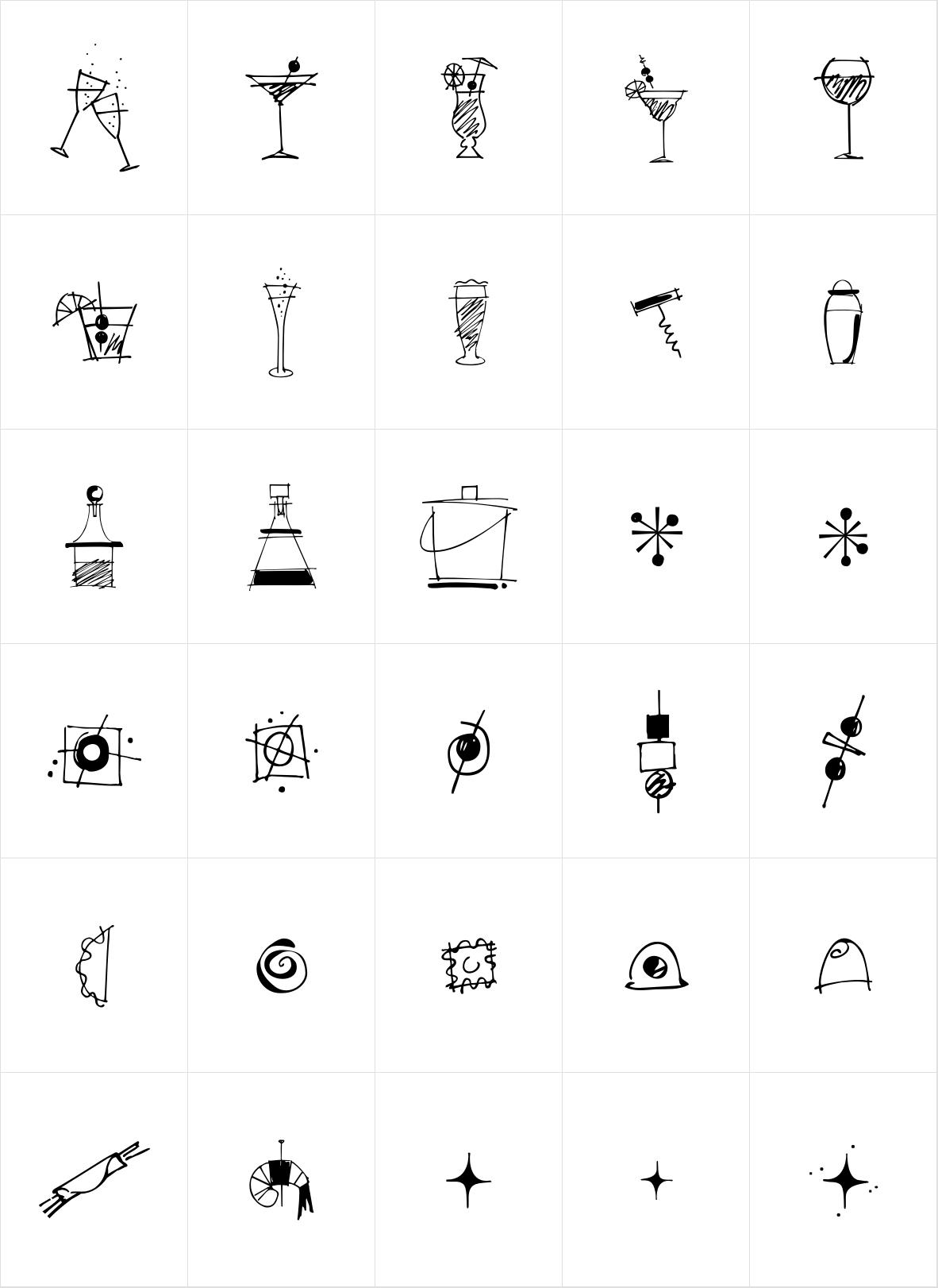 Happy Hour Doodles