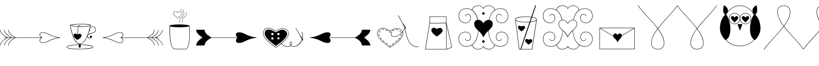 LoveStory Dingbats