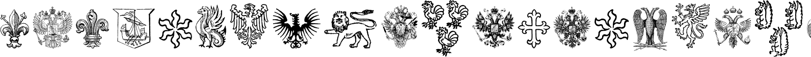 Heraldic Devices Premium Two Font