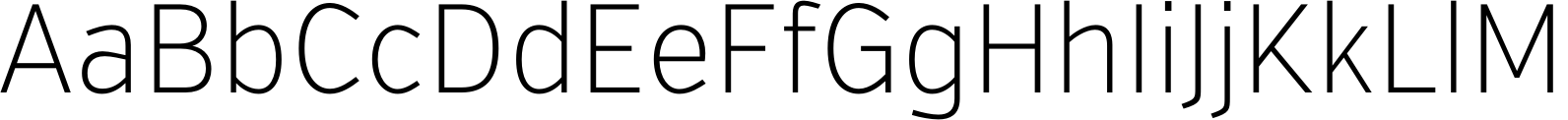 VerbCond Extralight Font
