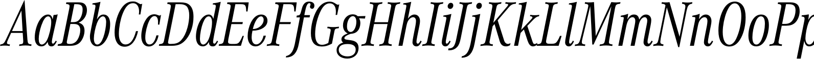 Corporate A Condensed Light Italic Font