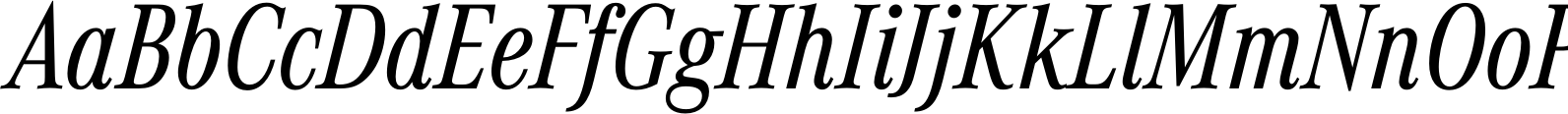 Corporate A Condensed Regular Italic