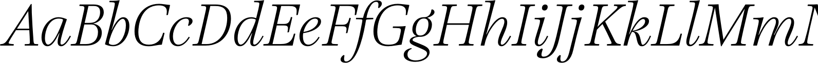 Lavigne Display Light Italic Font
