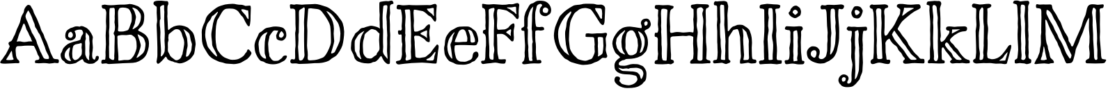 Charcuterie Engraved Font