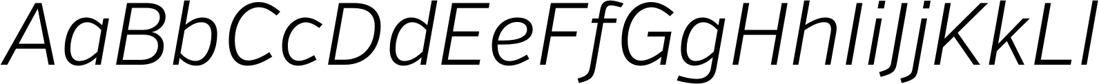 Verb Light Italic