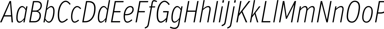 VerbComp Extralight Italic Font