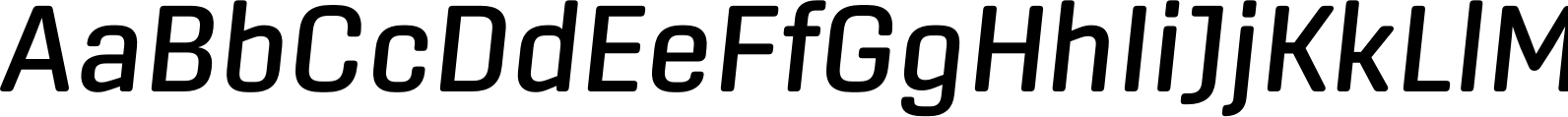 Center Medium Italic Font