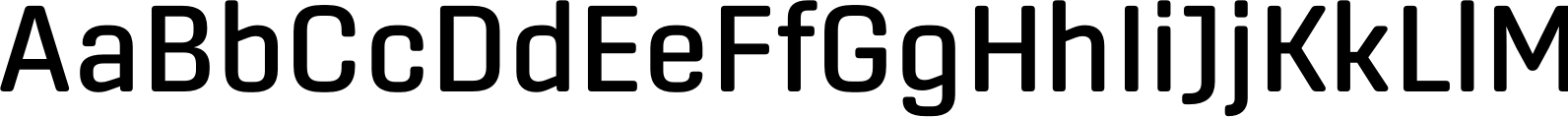 Center Medium Font