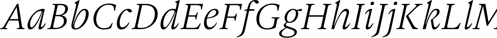 Gauthier FY Italic Font