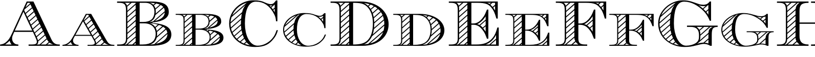 Engravers DT AltShaded Font