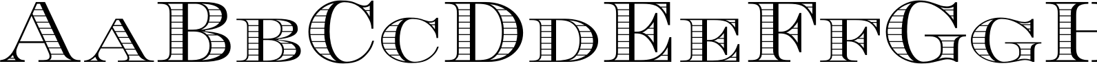 Engravers DT Shaded Font