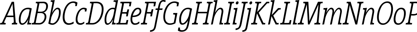 Vigor DT Condensed LightItalic