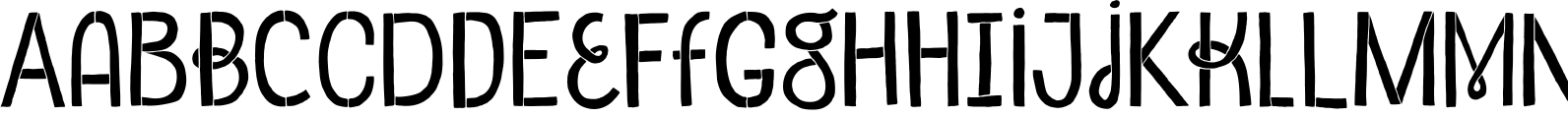 Undersong Stencil Font