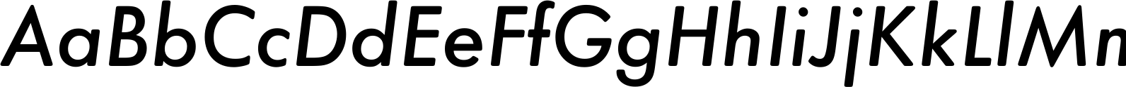 Futura Round Medium Oblique Font