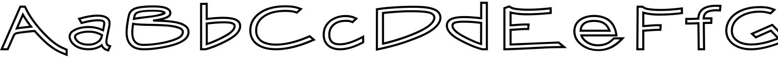 Smooth Buggaloo Outline Font