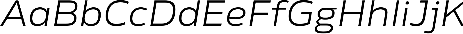 Rleud Extended Light Italic Font