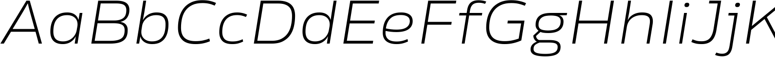 Rleud Extended Extra Light Italic Font
