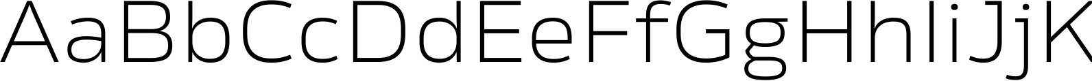 Rleud Extended Extra Light Font