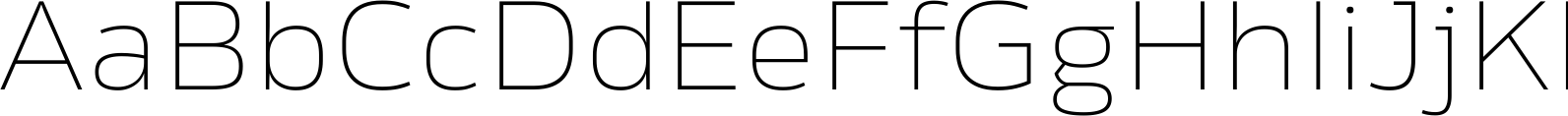 Rleud Extended Thin Font