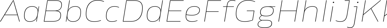 Rleud Extended Ultra Light Italic Font