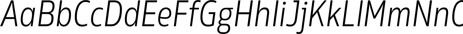 Rleud Narrow Light Italic Font