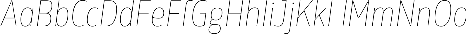 Rleud Narrow Ultra Light Italic Font