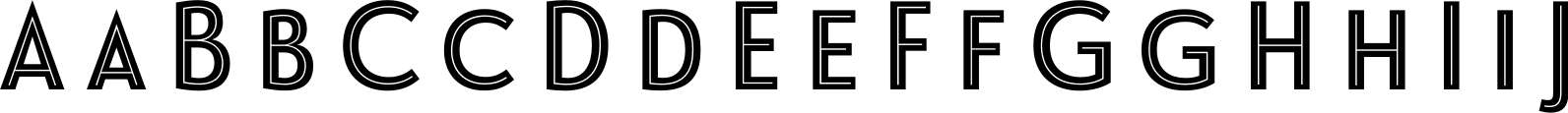 Le Havre Layers Centerline Reversed Font