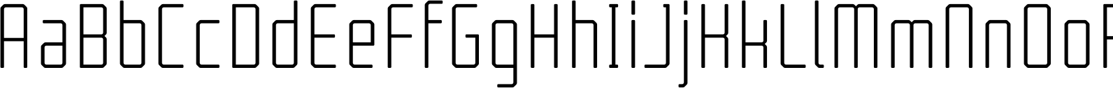 Tecnica Regular Alternate Font