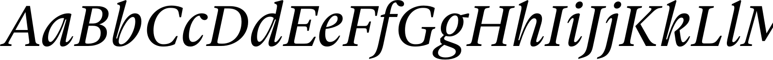 Gauthier Next FY Medium Italic Font